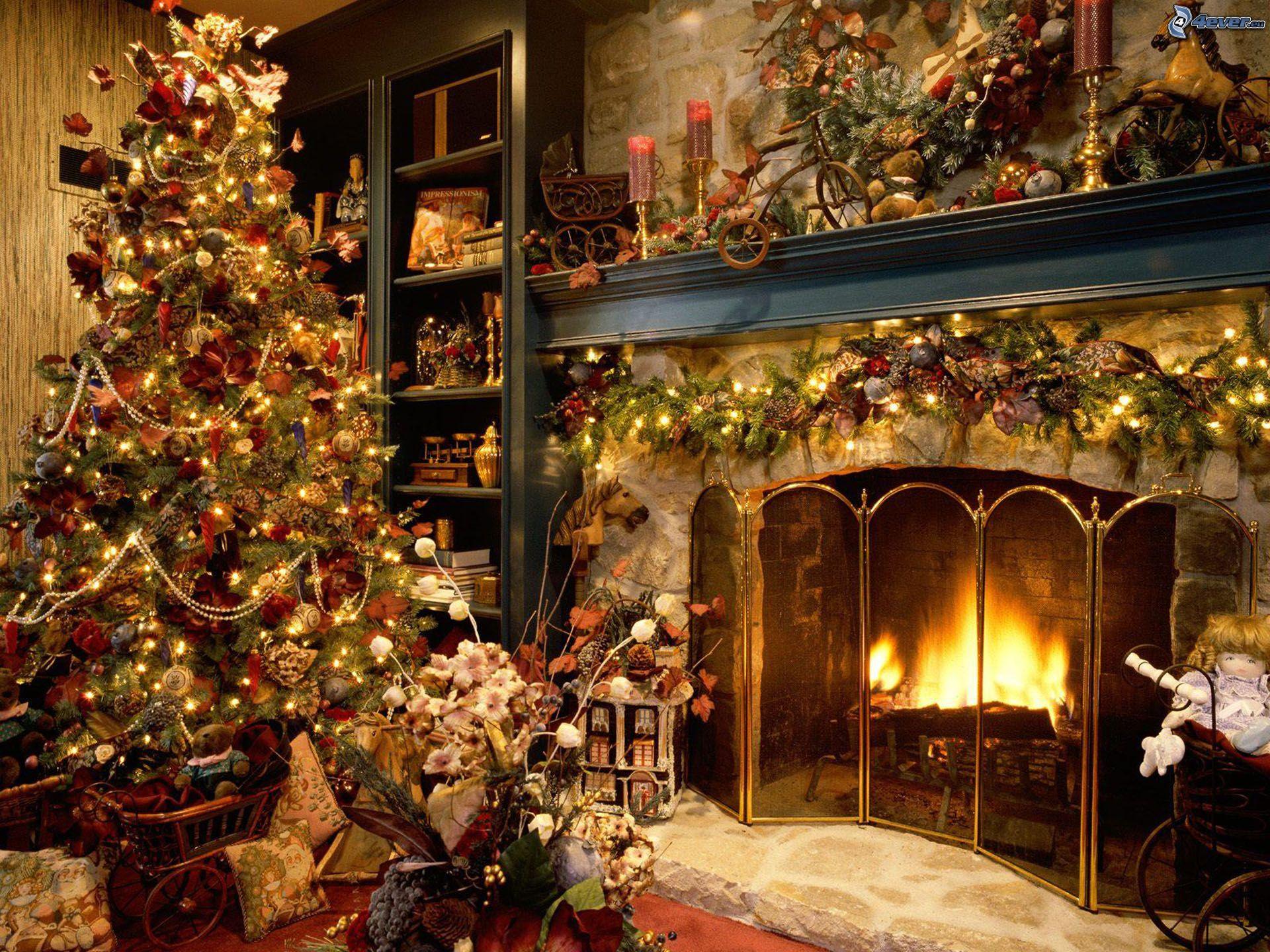 weihnachtlich geschm cktes zimmer. Black Bedroom Furniture Sets. Home Design Ideas