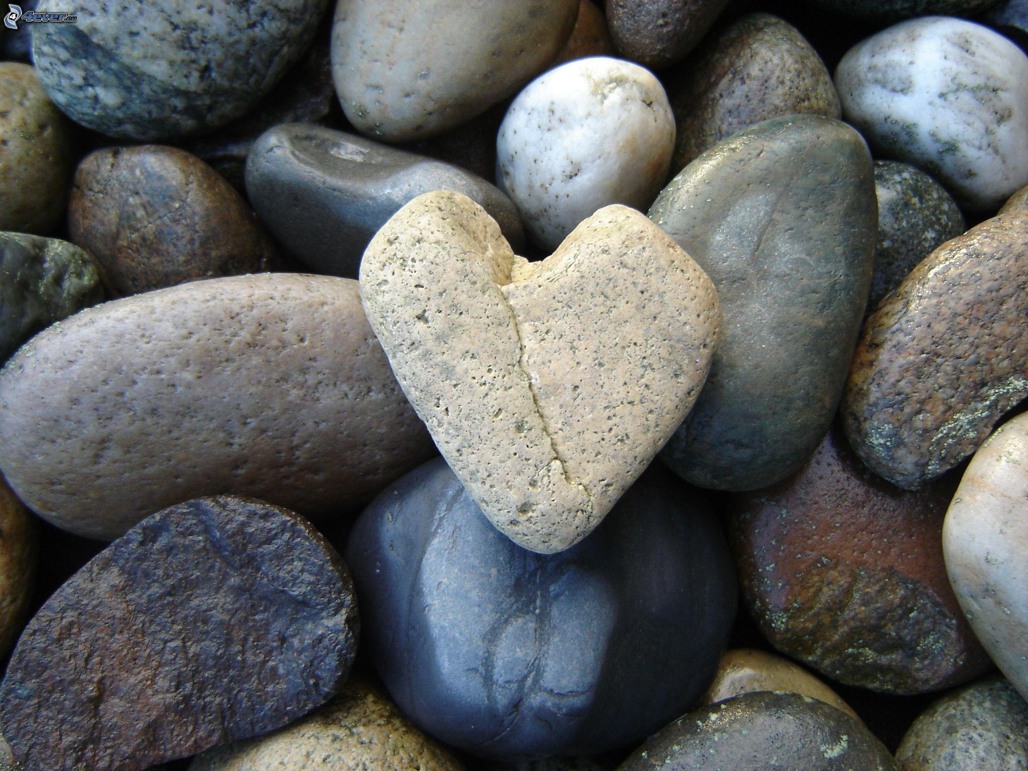 Wallpaper steine herz  Herz aus Stein