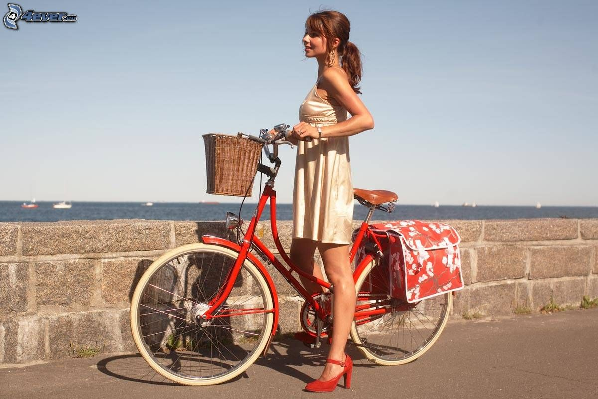 Mädchen auf dem Fahrrad