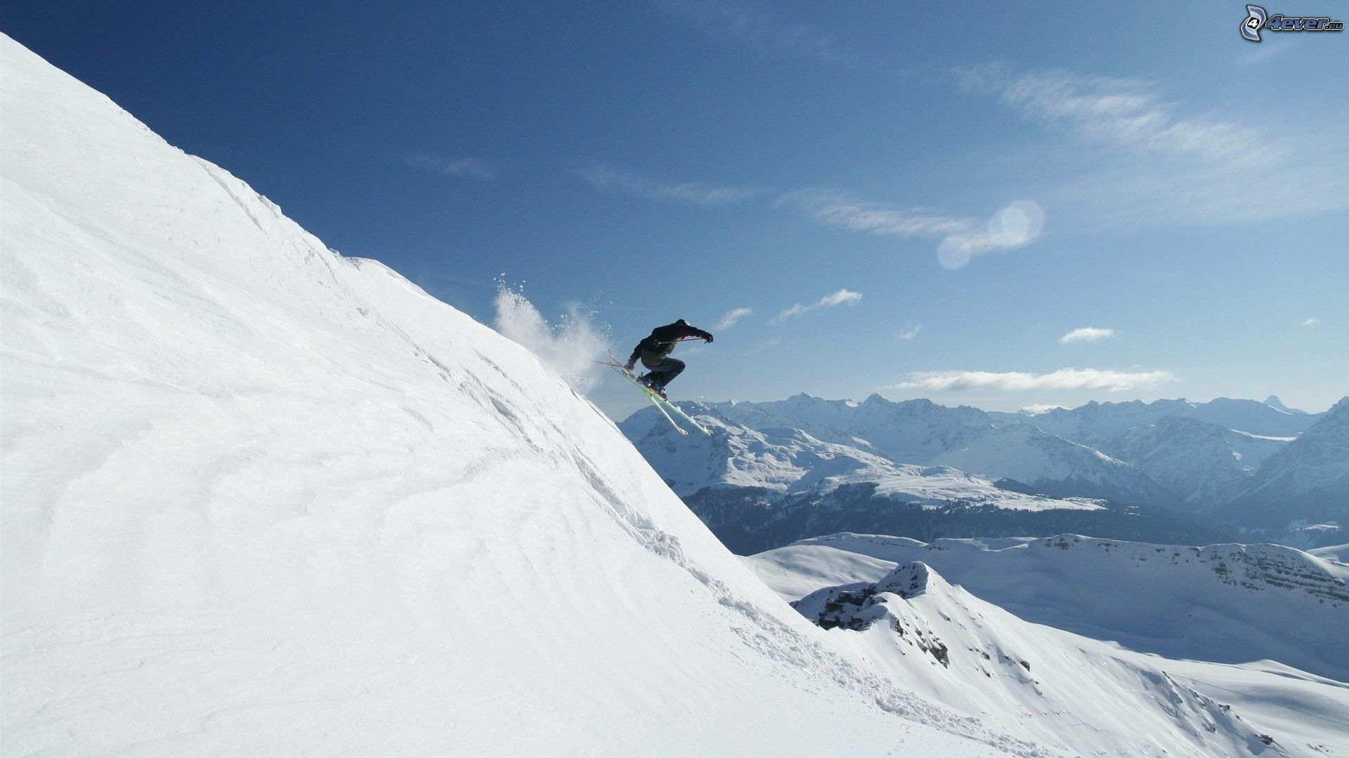 Extrem skifahren skifahren schneebedeckte berge 166490