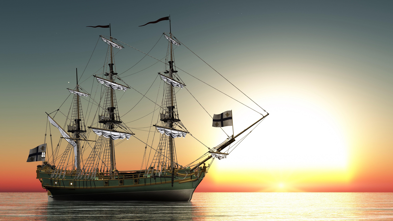 Корабль фото на море